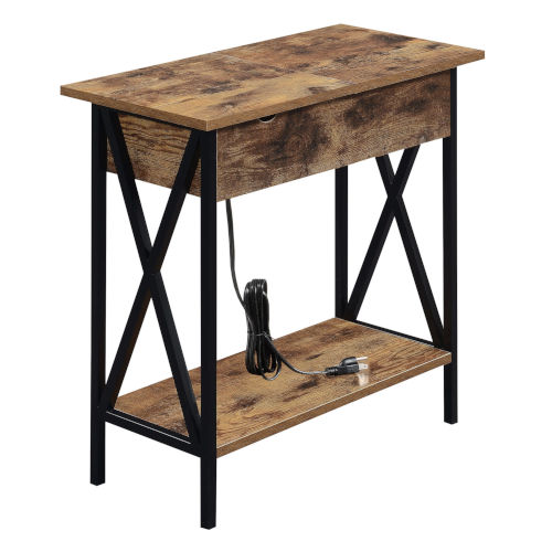Tucson Barnwood Black Electric Flip Top Table