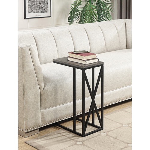 Convenience Concepts Tucson C Gray and Black End Table