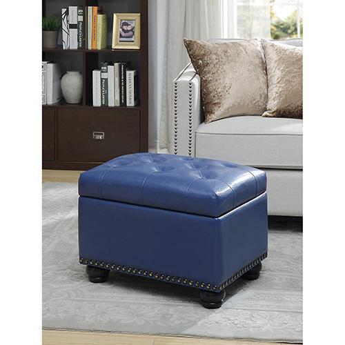 Designs4Comfort Blue 5th Avenue Storage Ottoman