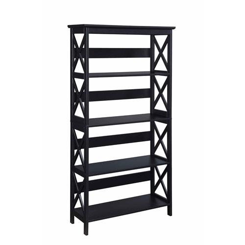 Oxford Black Five-Tier Bookcase