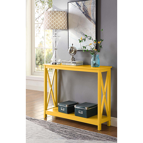 Oxford Yellow Console Table