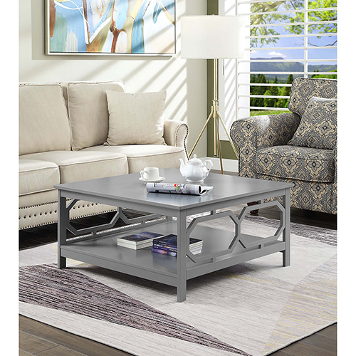 Omega Gray Square 36-Inch Coffee Table