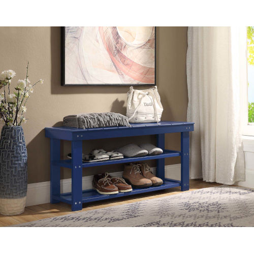 Oxford Cobalt Blue 35-Inch Bench
