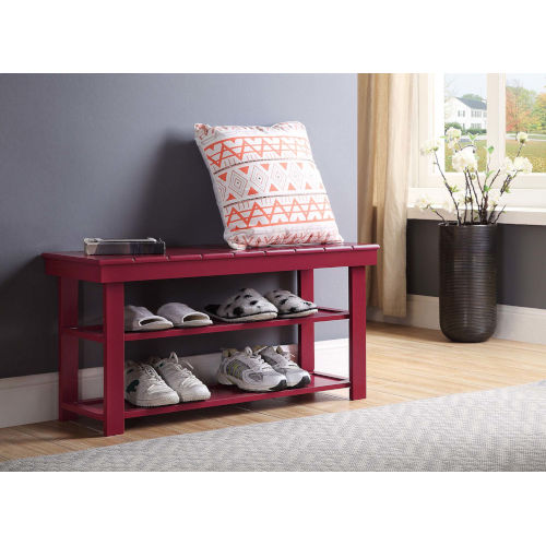 Oxford Cranberry Red 35-Inch Bench