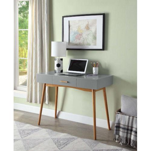 Oslo Gray Drawer Desk