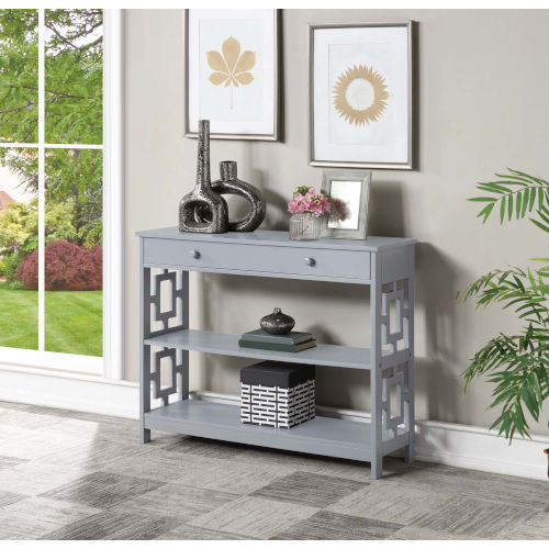 Town Square Gray Accent Console Table