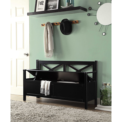 Oxford Black Storage Bench