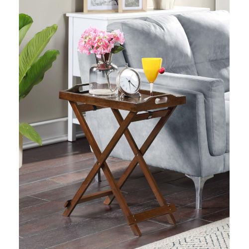 Designs2Go Espresso Accent Tray Table