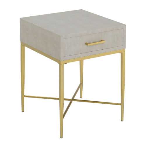 Ashley Beige and Gold 24-Inch  End Table
