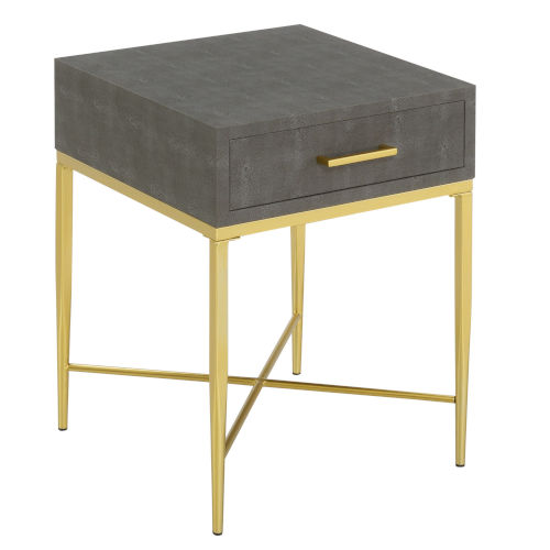 Ashley Gray and Gold 24-Inch End Table