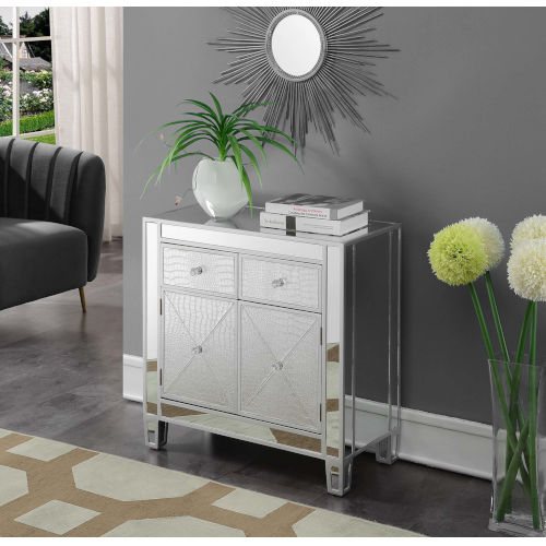 Gold Coast Mirrored Cabinet with Two Drawer