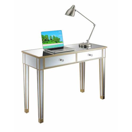 Gold Coast Champagne Mirror Mirrored Desk