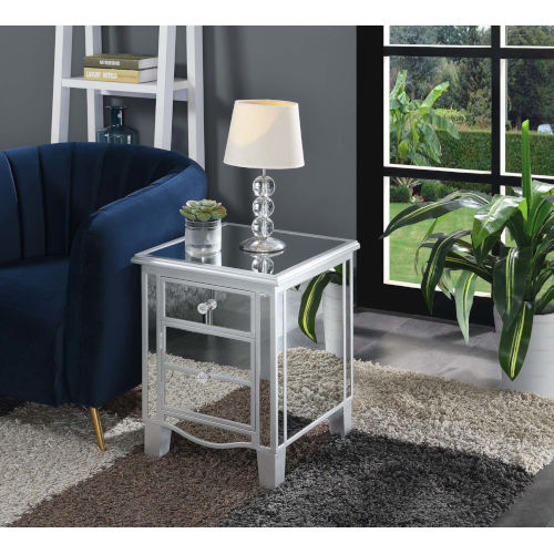 Mirror 18 Inch Mirrored End Table, Mirrored Furniture Gold Coast
