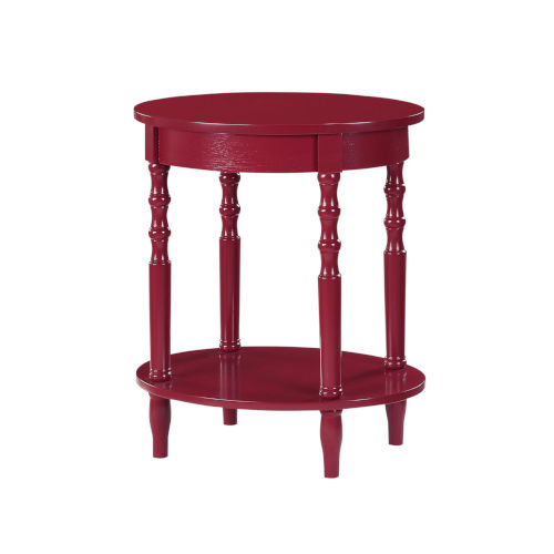Classic Accents Cranberry Red Brandi Oval End Table