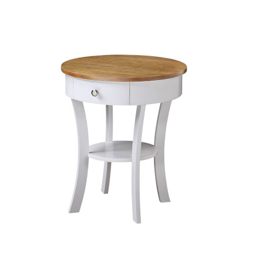 Classic Accents Driftwood White Schaffer End Table