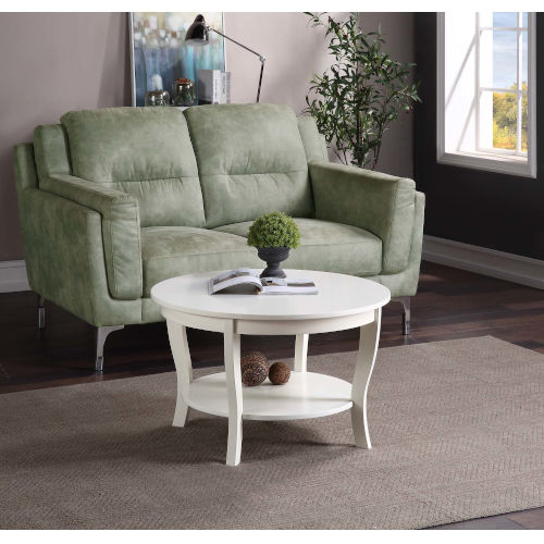 American Heritage White 30-Inch Round Coffee Table