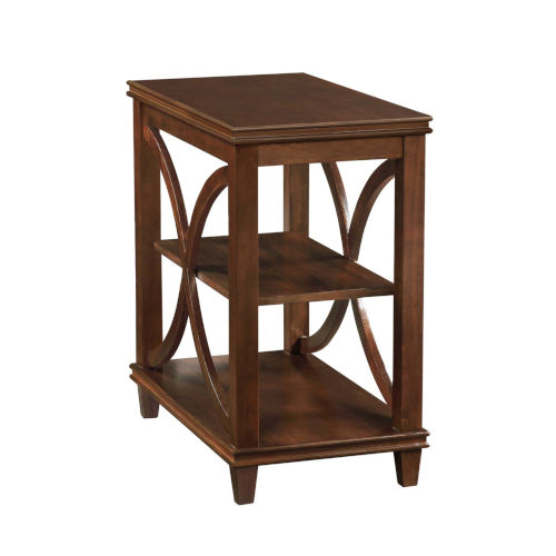 Florence Espresso 25-Inch Chairside Table