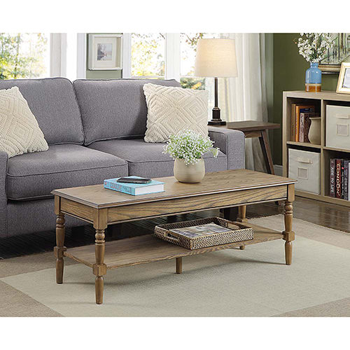 Convenience Concepts French Country Brown Coffee Table