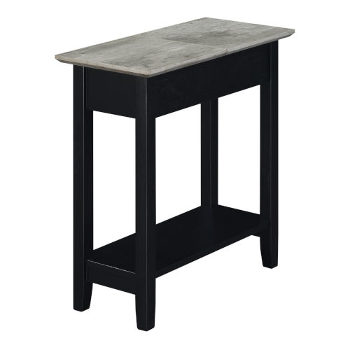 American Heritage Faux Birch and Black Flip Top End Table