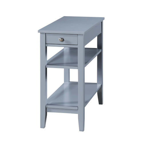 American Heritage Gray End Table With Drawer