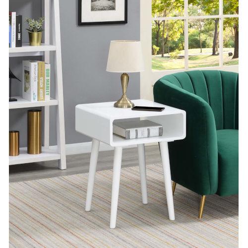 Napa White End Table