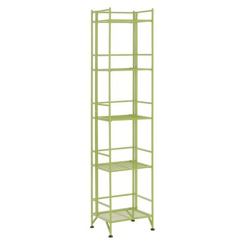 Xtra Storage Lime 11-Inch Five-Tier Folding Metal Shelf