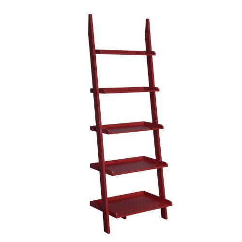 American Heritage Cranberry Red Bookshelf Ladder