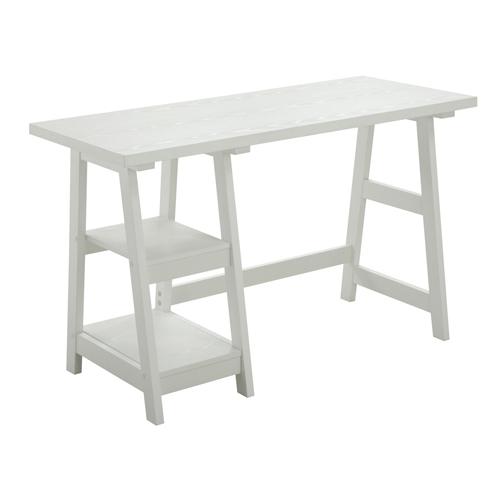 Designs2Go White Trestle Desk