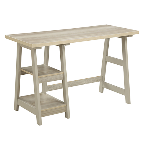 Convenience Concepts Designs2go Weathered White Trestle Desk