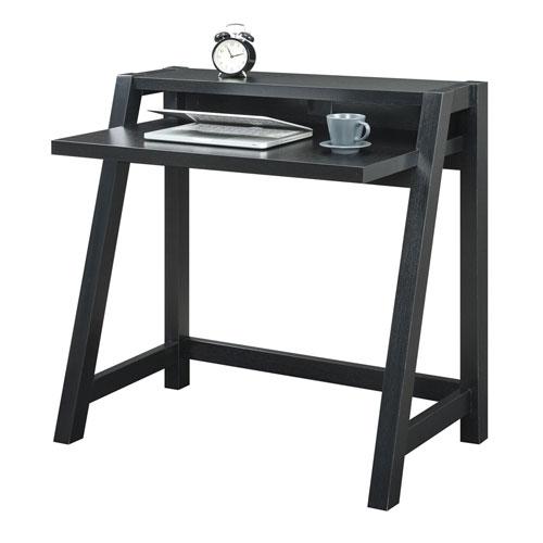 Convenience Concepts Newport Black Computer Desk