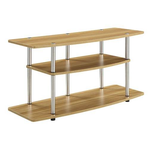 Designs2Go Light Oak 3 Tier TV Stand