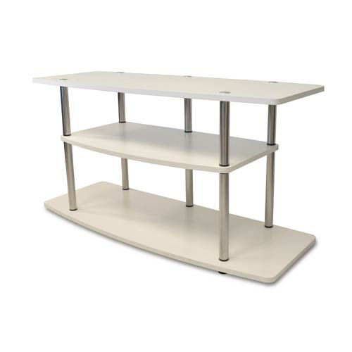 Convenience Concepts Designs2Go White Three Tier Wide TV Stand