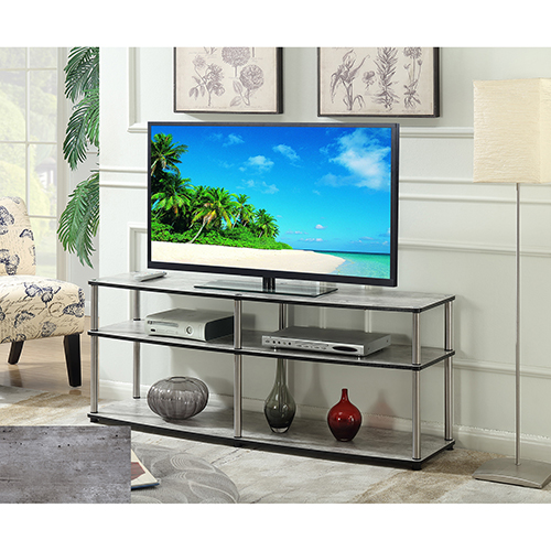 Convenience Concepts Designs2Go 3 Tier 60-Inch TV Stand in Faux Birch