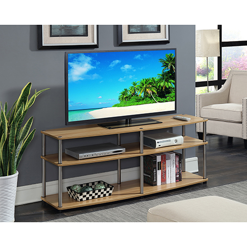 Convenience Concepts Designs2go 3 Tier 60 Inch Tv Stand In Light Oak