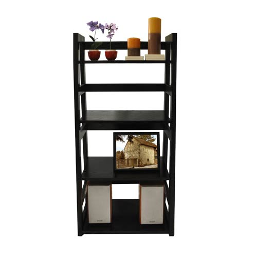 Convenience Concepts Designs2Go Black Trestle Bookcase
