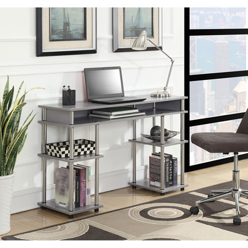 Convenience Concepts Designs2Go Gray Student Desk