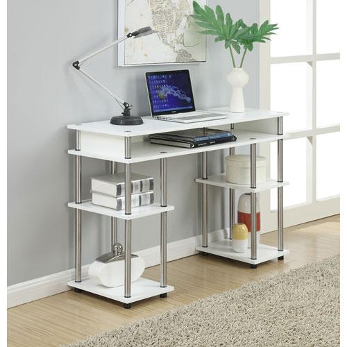 Newport White Computer Desk