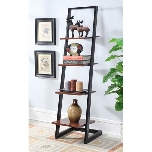 Designs2Go Black 4 Tier Ladder Bookcase