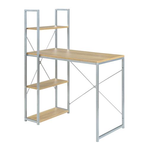 Designs2Go Light Oak Work Desk Bookcase