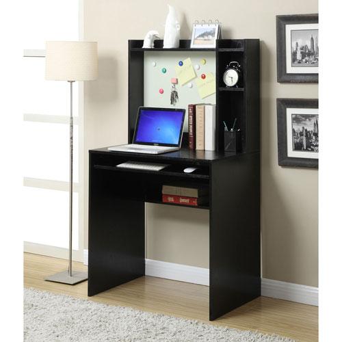 Designs2Go Black Computer Desk with Hutch