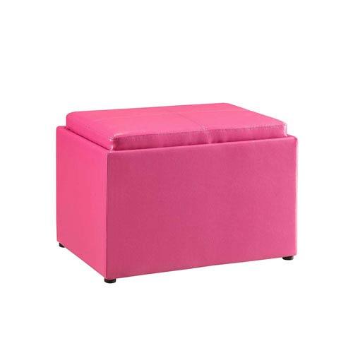 Designs4Comfort Pink Storage Ottoman