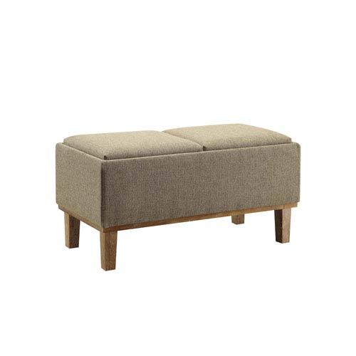Designs4Comfort Sandstone Storage Ottoman