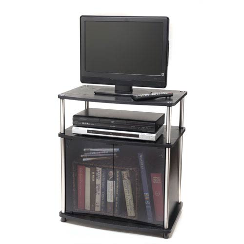 Convenience Concepts Designs2go Black Tv Stand With Cabinet 151056