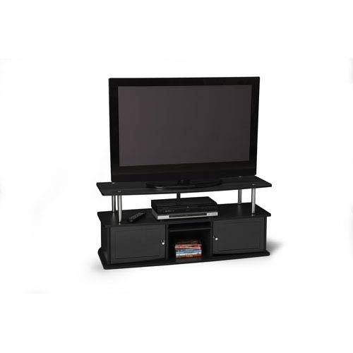 Convenience Concepts Designs2Go Black TV Stand with Three Cabinets