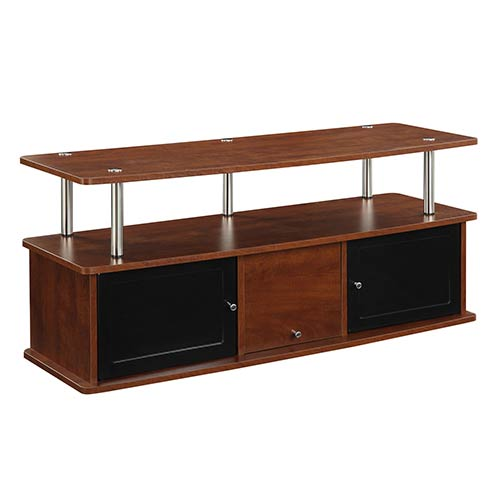 Convenience Concepts Designs2go Cherry TV Stand with Three Cabinet