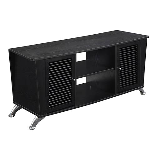 Convenience Concepts Designs2go Voyager Black TV Stand