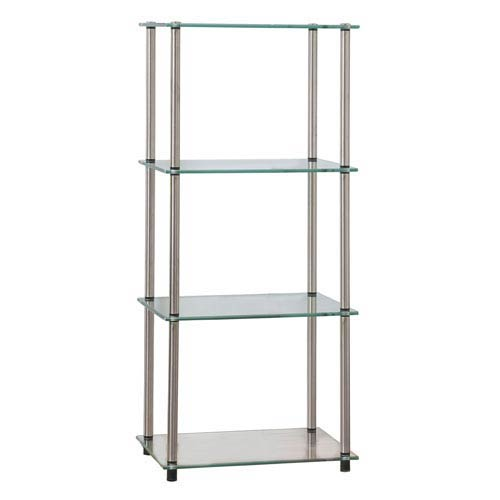Classic Glass Stainless Steel Four-Tier Tower
