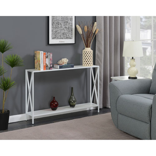 Tucson White Console Table