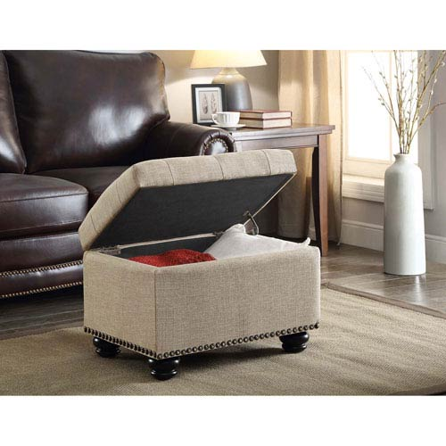 Designs4Comfort Tan Storage Ottoman