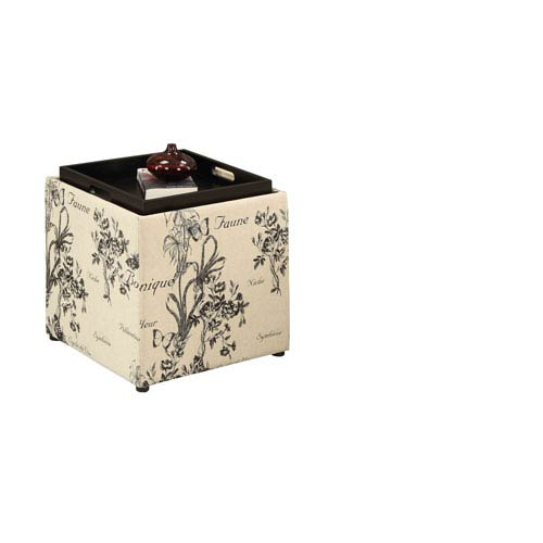 Designs4Comfort Botanical Storage Ottoman